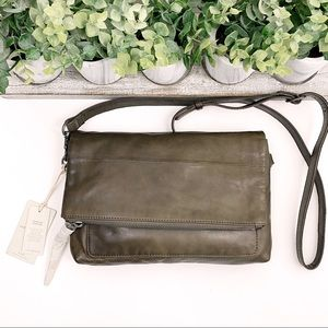 Lucky Brand NWT Caro Flap Driftwood Leather Bag